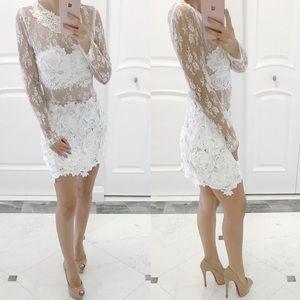 • White Lace Dress •